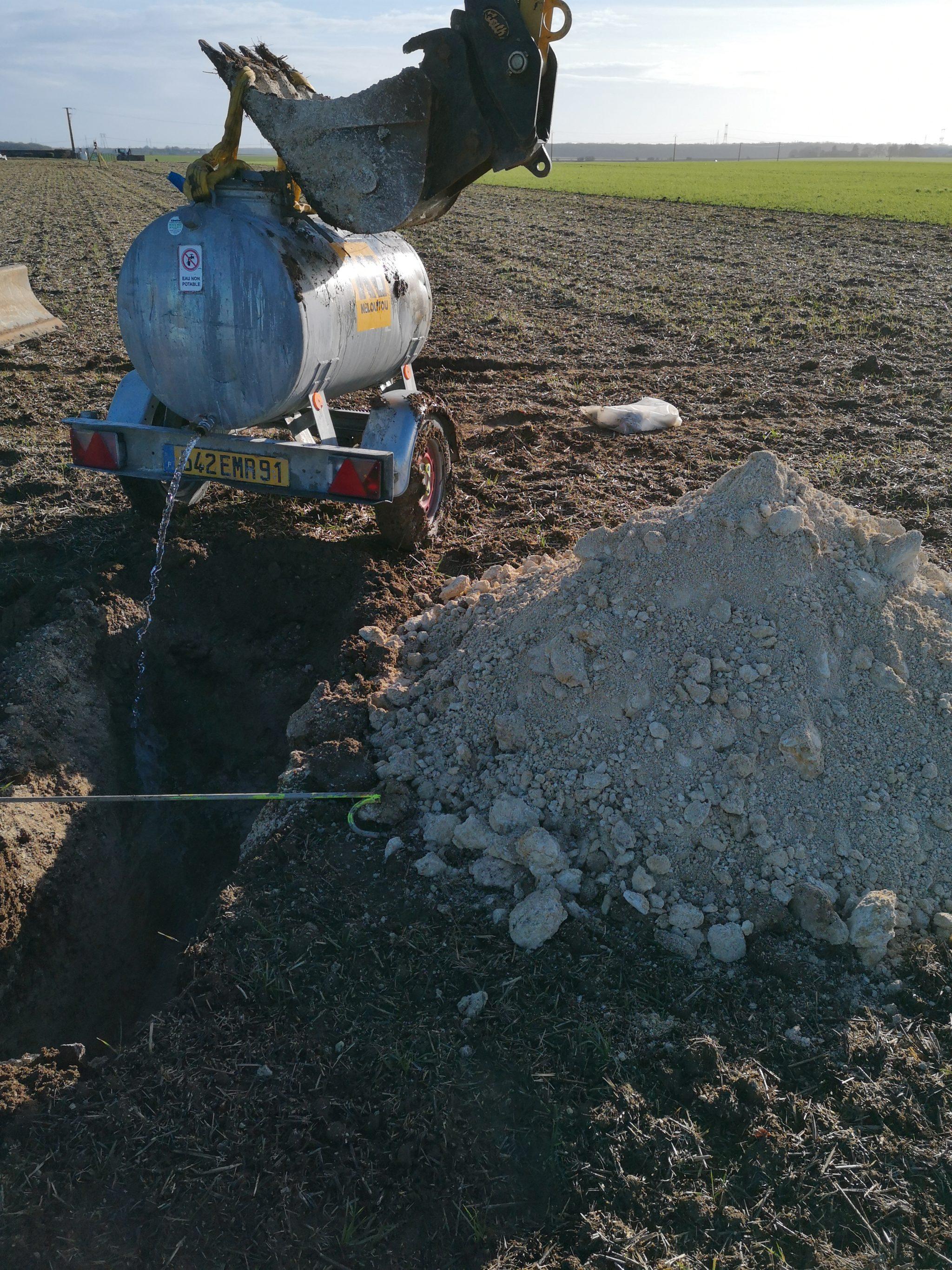 Mesure de la perméabilité du sol (infiltration)