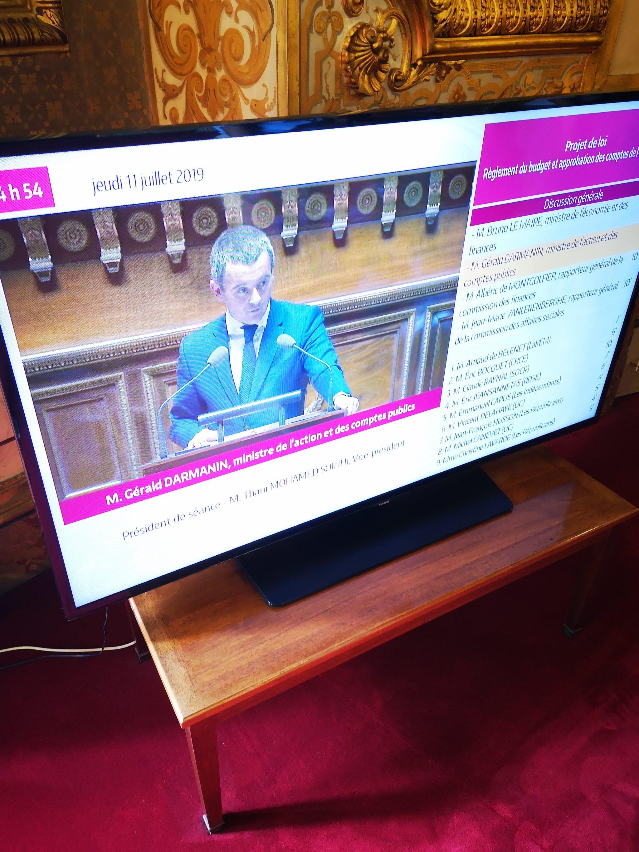 Début sur le budget de la nation, en présence du Ministre Gérald Darmanin